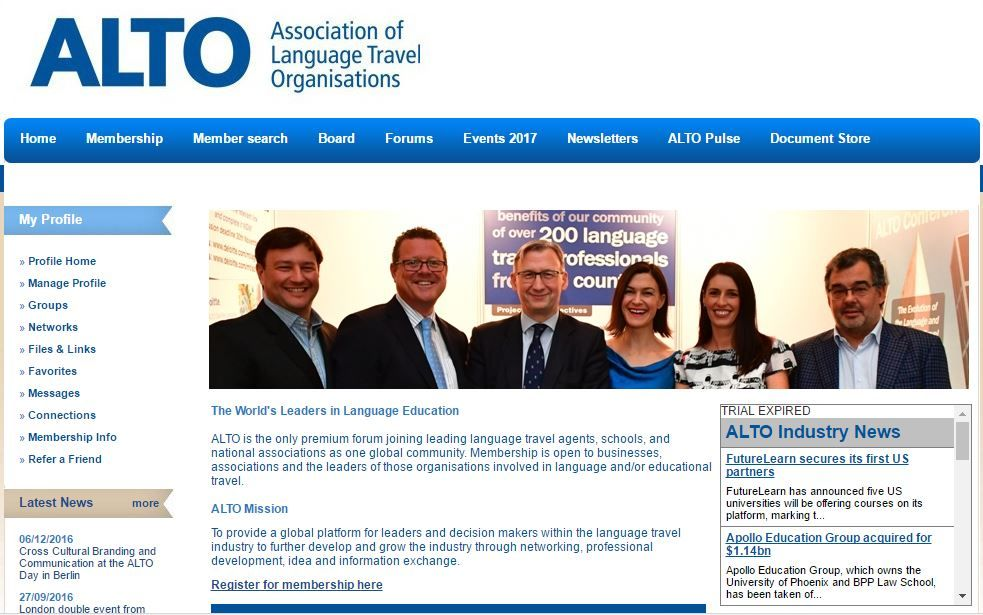 We are pleased to have become members of ALTO